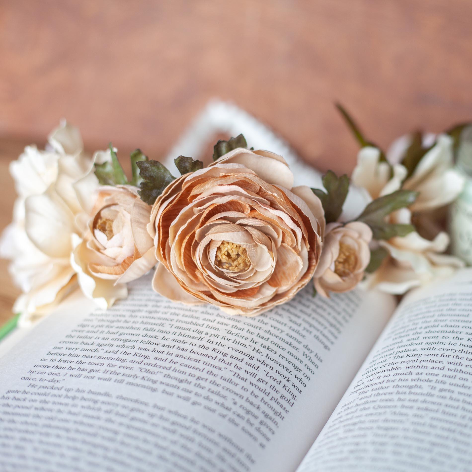 Vintage rose flower crown we are the spooky prev izmirmasajfo