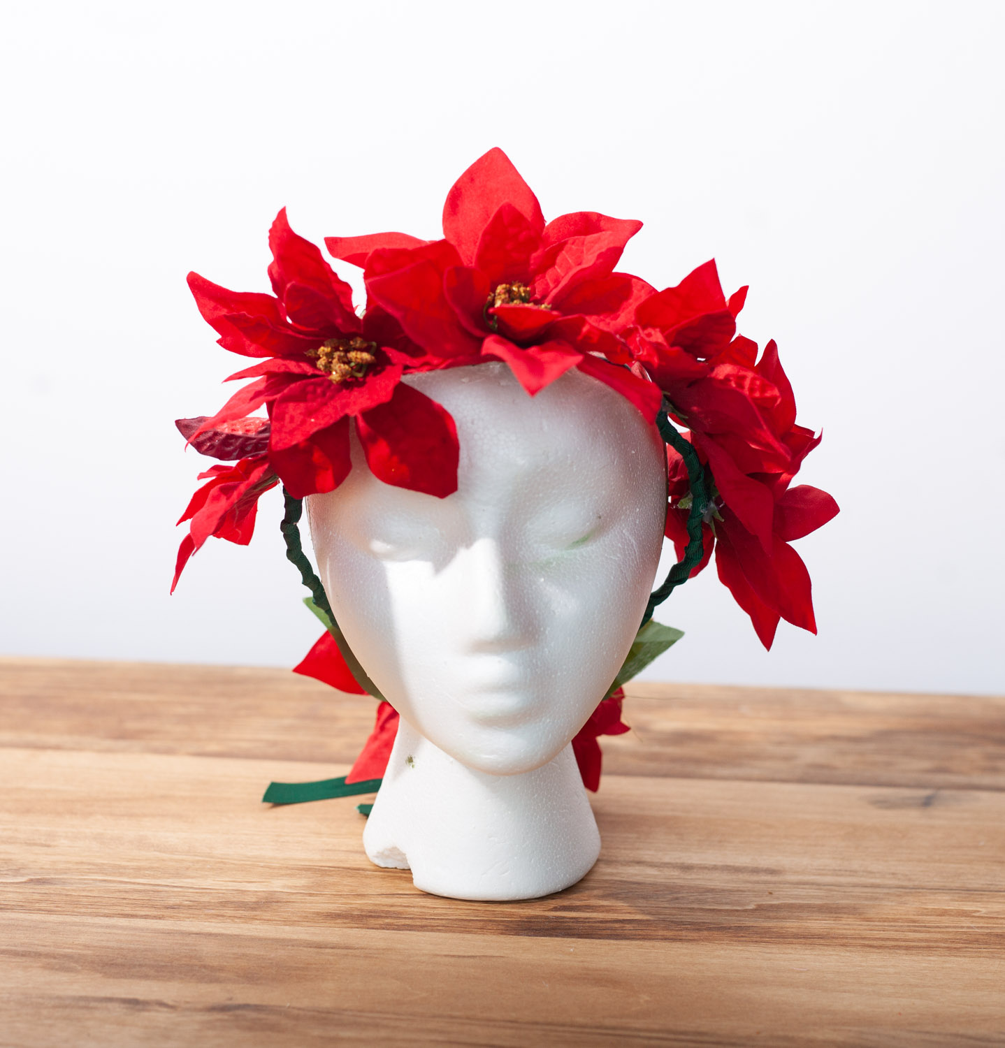 Red Winter Flower Crown We Are The Spooky